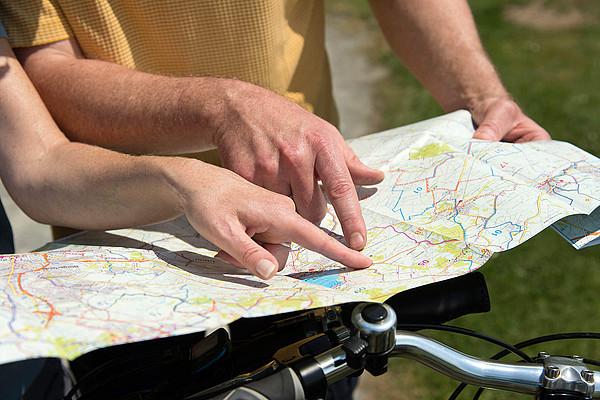 Fingerzeig auf Ammerland Radkarte